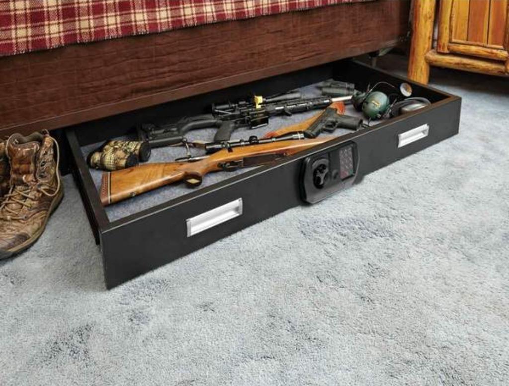 Under bed gun safe