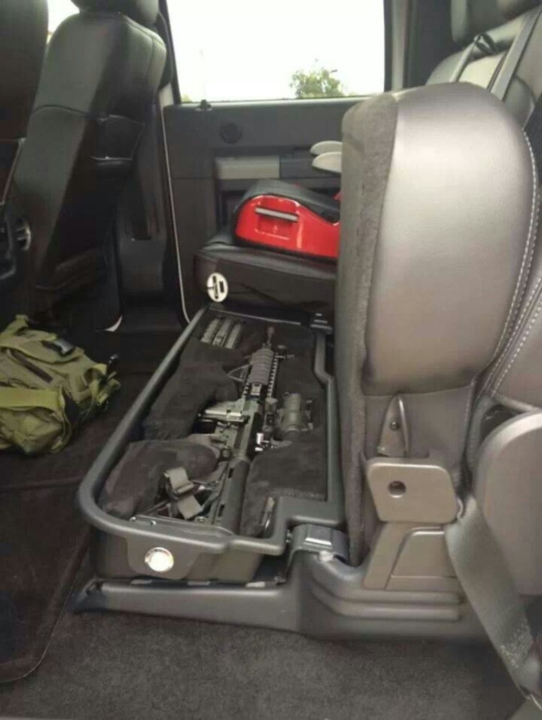 Under seat truck gun safe