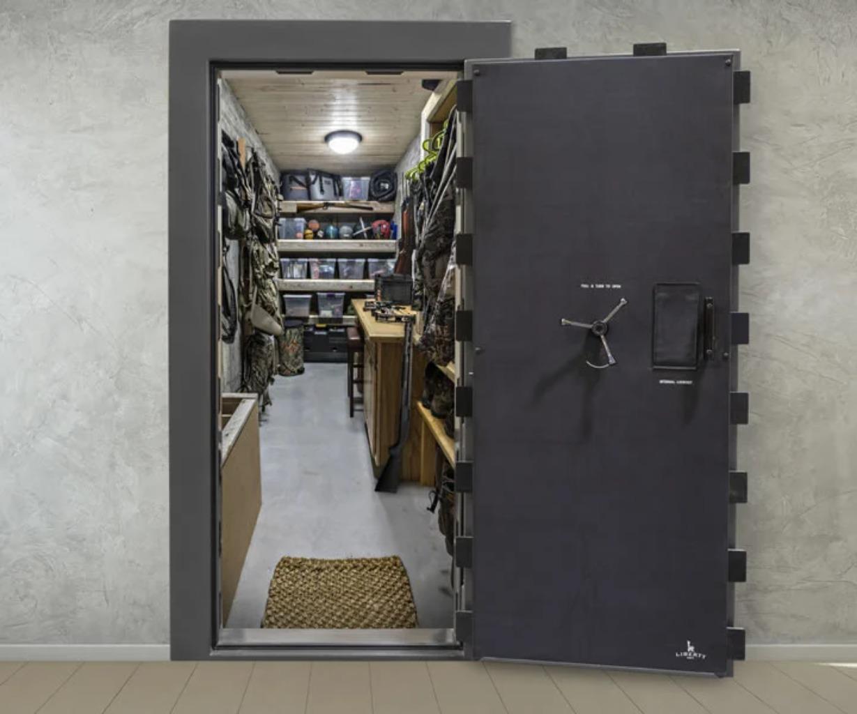 In-wall gun safe
